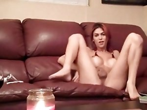 Hot Tranny Self Facial!!